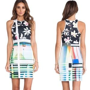Clover Canyon floral abstract stretch dress -sz M